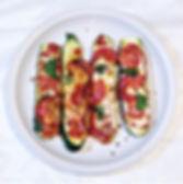 Simple Pepperoni Zucchini Pizza Boats
