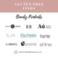 Gluten Free Make Up Brands