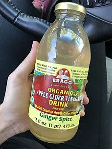 Organic Apple Cider Vinegar Drink Ginger Spice