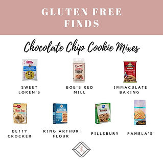 Gluten Free Chocolate Chip Cookie Mixes and Dough