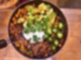 Butternut Squash Noodle Taco Bowl