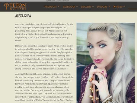 Alexa Shea - Artist for Teton Guitar