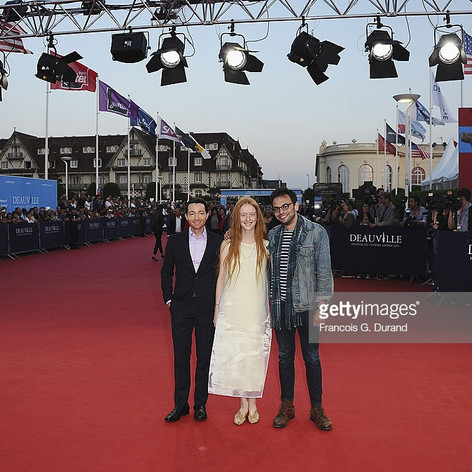 Josh, India Menuez & Director Nathan Silver at Deauville 2014 Uncertain Terms Premiere
