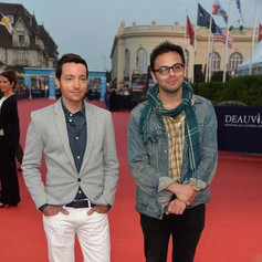 Josh & Director Nathan Silver at Deauville 2014 Uncertain Terms Premiere