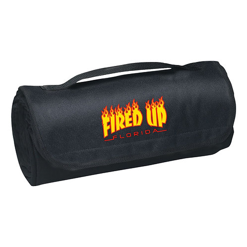 Fired Up Logo Roll-Up Blanket