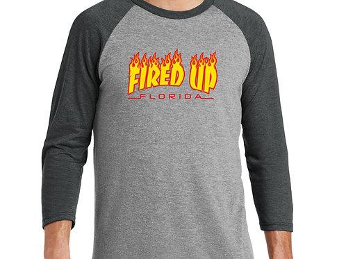 Fired Up Logo Raglan Shirt (Unisex)