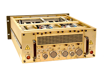4U MIL Chassis with Triple 9 Connectors