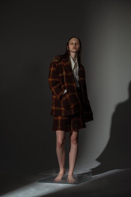 PSEUDO/POEMS NORA Wool Check Blazer