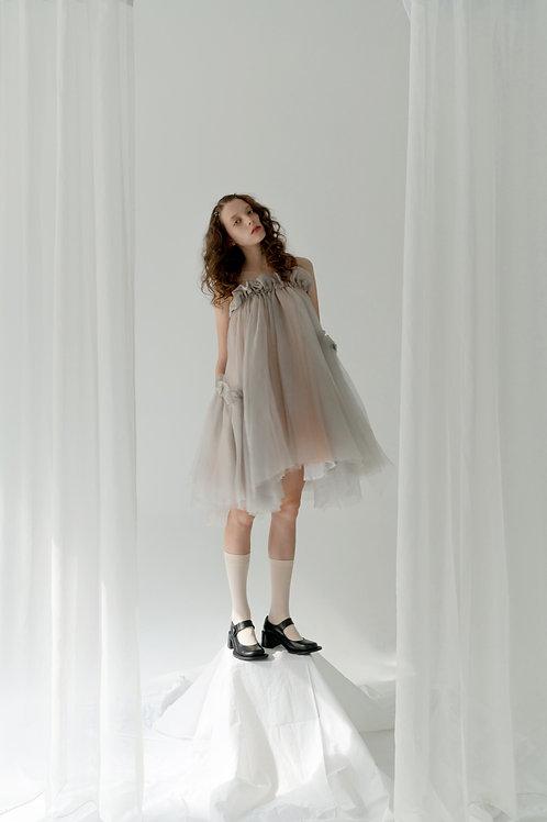 PSEUDO/POEMS AVERY Silk Ash Handkerchief Skirt