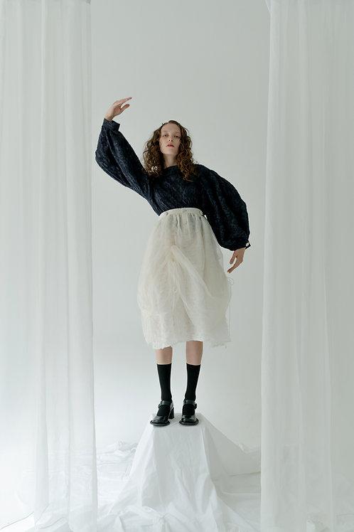 PSEUDO/POEMS CAMILA Silk Drawstring Suspender Skirt