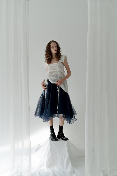 PSEUDO/POEMS KAJA Retro Sailor Collar Lace Dress