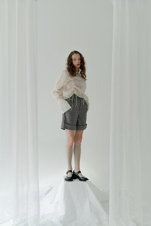 PSEUDO/POEMS KINSLEY Silk Drawstring Shirt