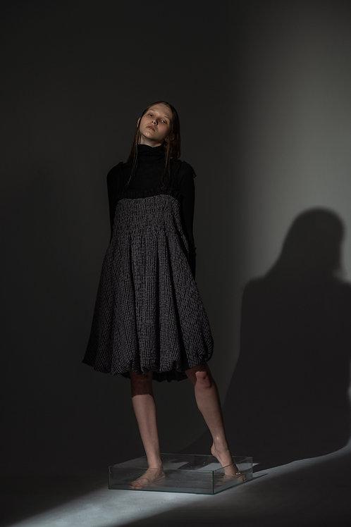 PSEUDO/POEMS AVA Wool & Organza Dress