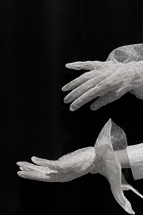 PSEUDO/POEMS DELIA Cotton Lacy Gloves