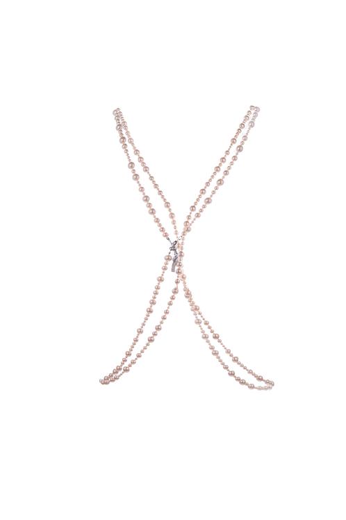 PSEUDO/POEMS Swarovski Pearl Cross Body Decoration Chain