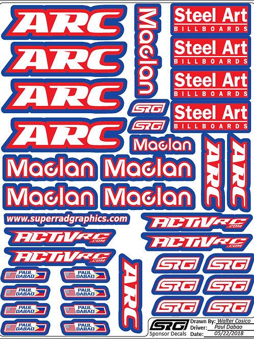 "RC car decals 8.5"" x 11"""