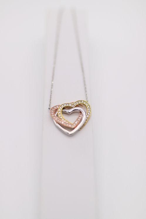 """Halskette mit Anhänger """"3-Herzen"""""""