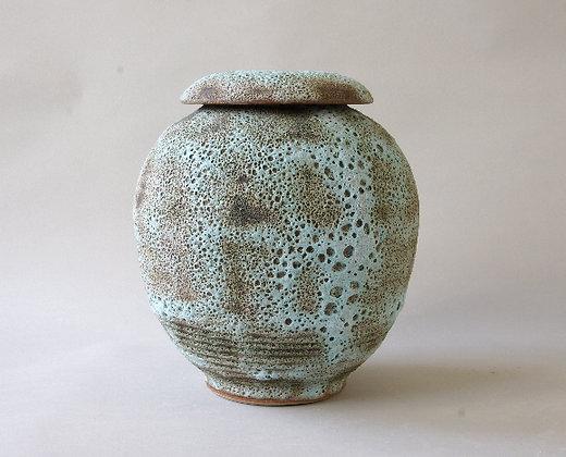 Lidded Volcanic Jar