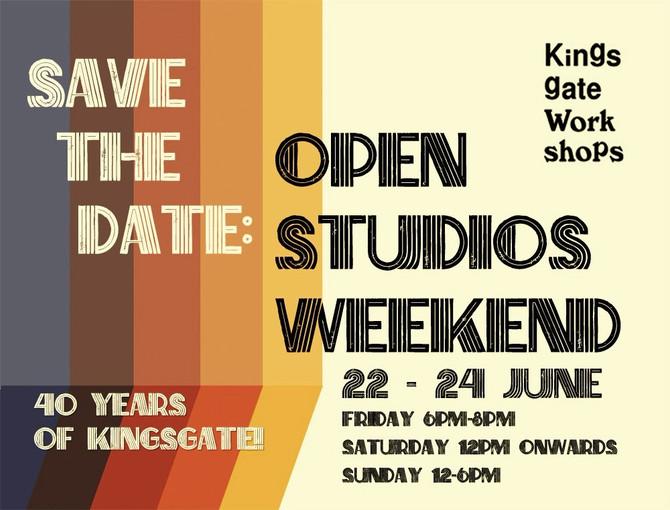 Open Studios Weekend save the date 22-24 June