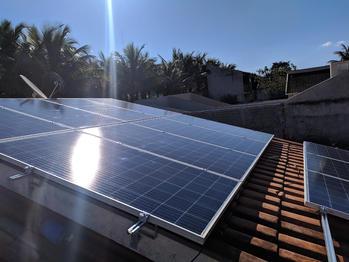 placa solar instalada