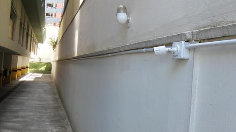 tubulação câmeras condominios