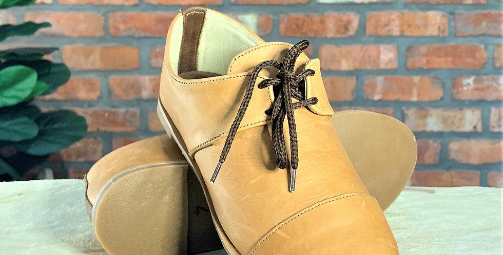 Hannah Leather Oxfords - Tan