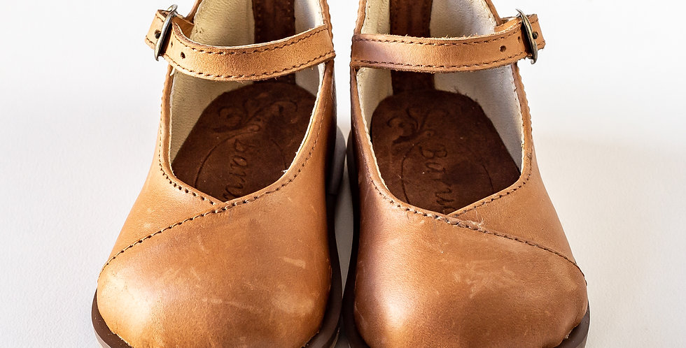 Petro Kiddies Leather Shoes - Tan