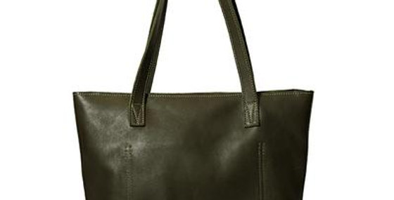 Antelo Emmy Leather Tote - Olive