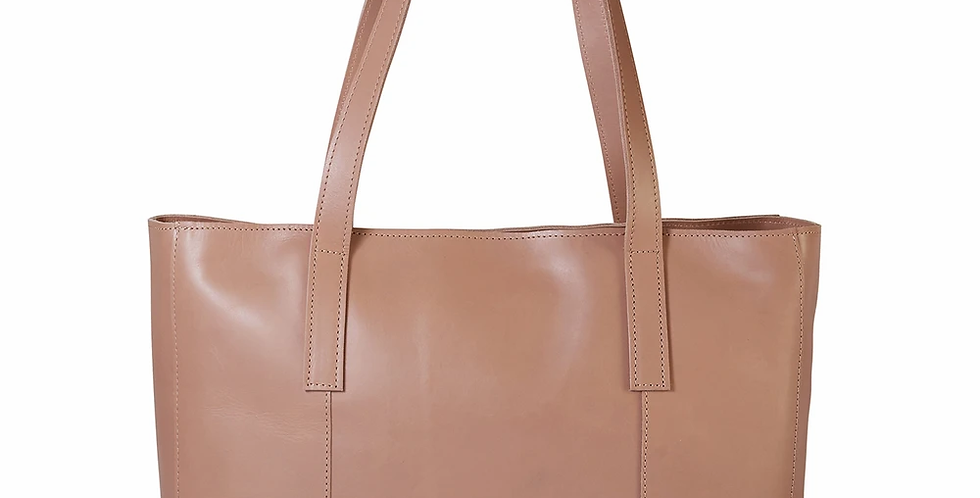 Antelo Juliette Leather Maxi Tote - Sand