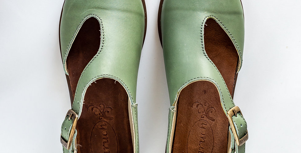 Michelle Leather Shoes - Green
