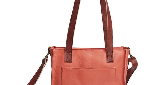 Antelo Ava Crossbody Leather Tote Terra Cotta & Tan