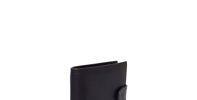 Antelo James Bi-fold Wallet - Black