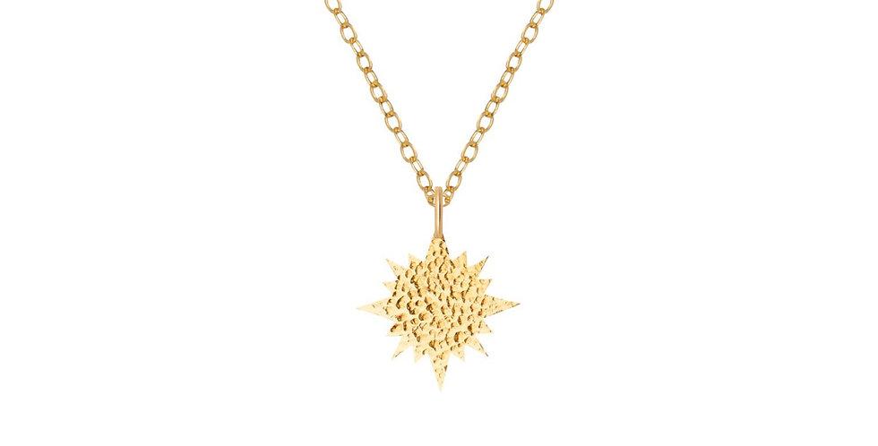 ORA Hammered Sun Gold Necklace