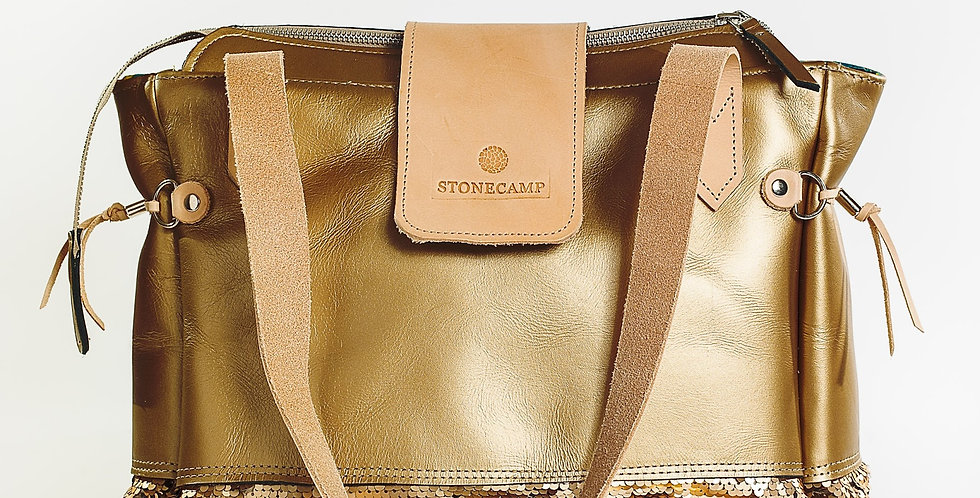 Stonecamp Leather Tote - Rosegold Bling