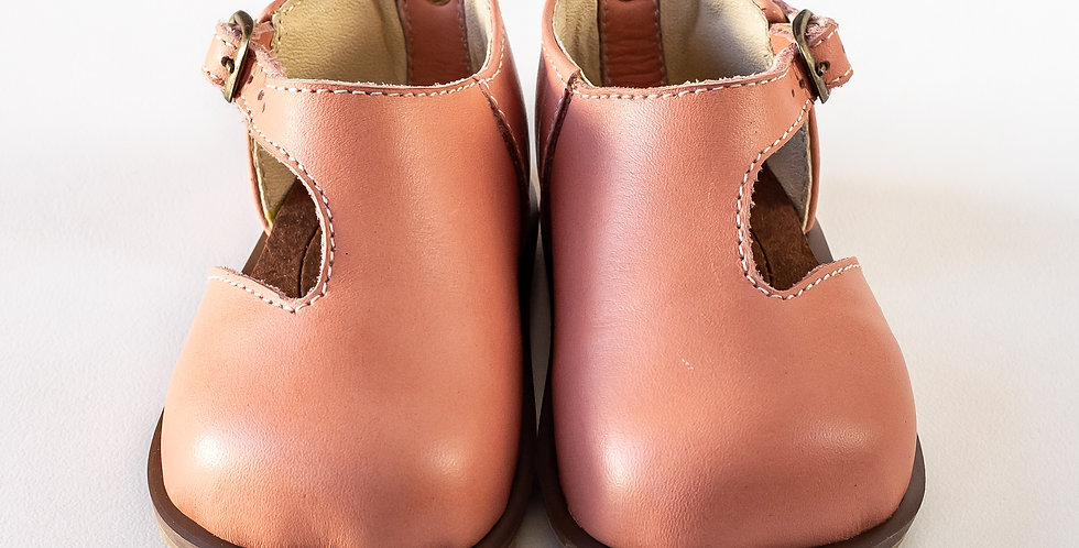Michelle Kiddies Leather Shoes - Pink