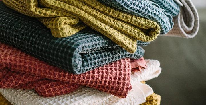 Cotton Company Waffle Weave Turkish Towel