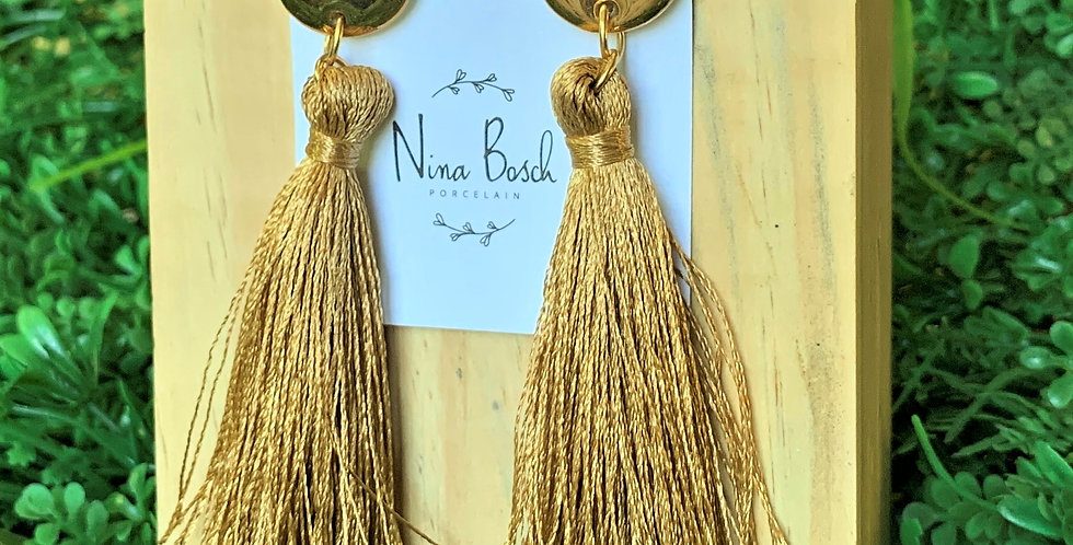 Nina Bosch Round Tassel Earrings