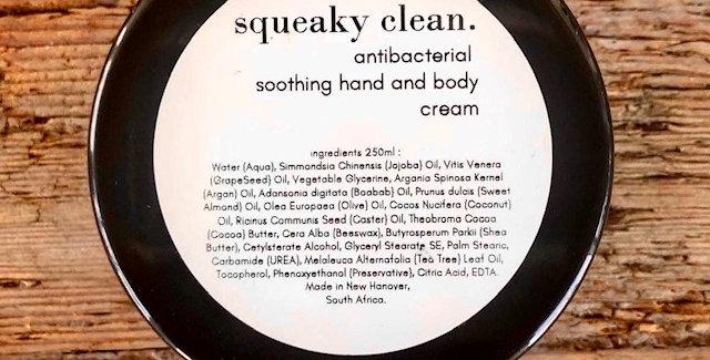 Squeaky Clean Antibacterial Hand & Body Cream