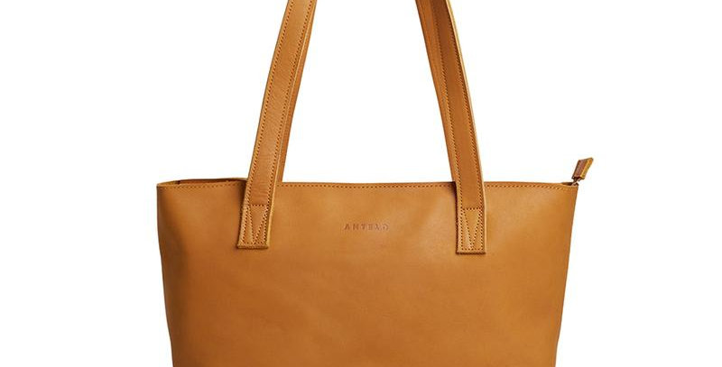Antelo Emmy Leather Tote - Mustard