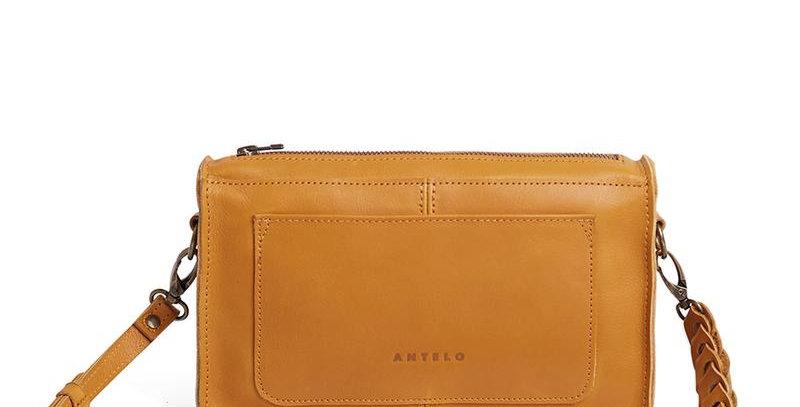 Antelo Bailey Leather Crossbody Bag - Mustard