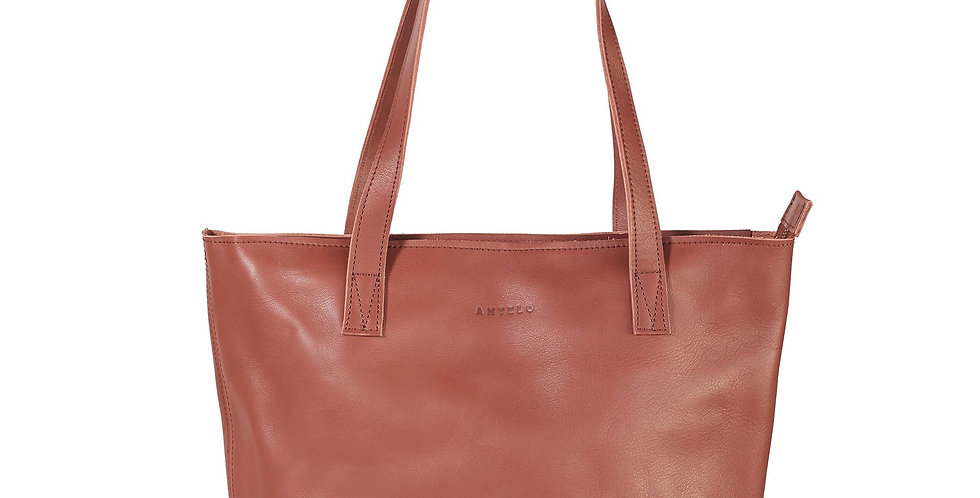 Antelo Emmy Leather Tote - Tan