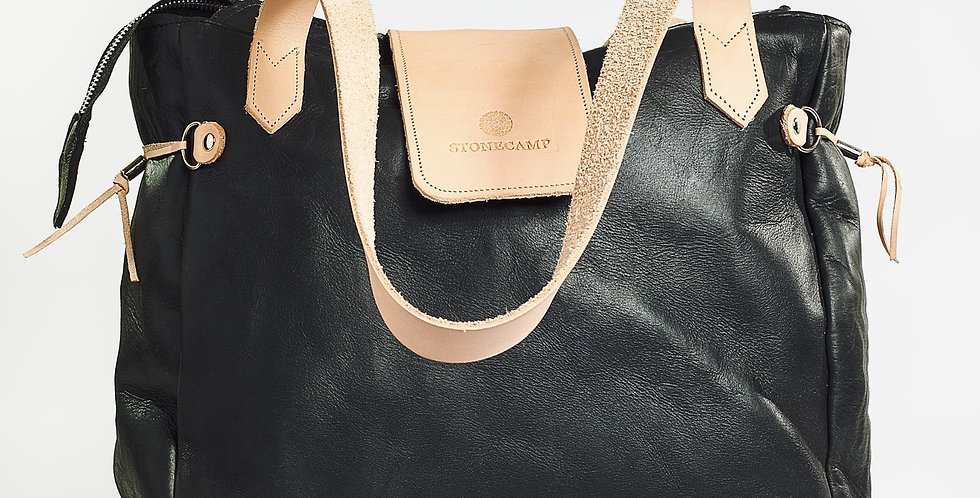 Stonecamp Leather Tote - Black