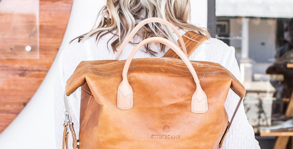 Stonecamp Leather Backpack - Tan