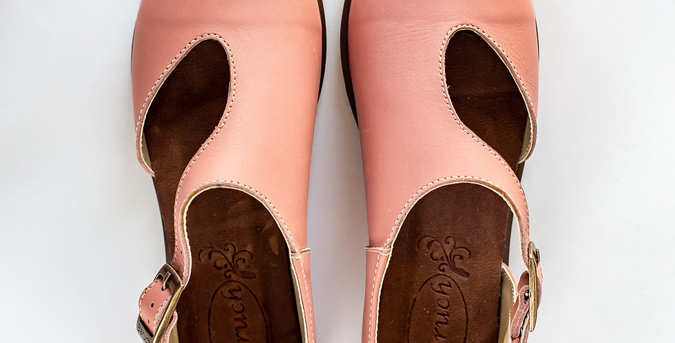 Michelle Leather Shoes - Pink