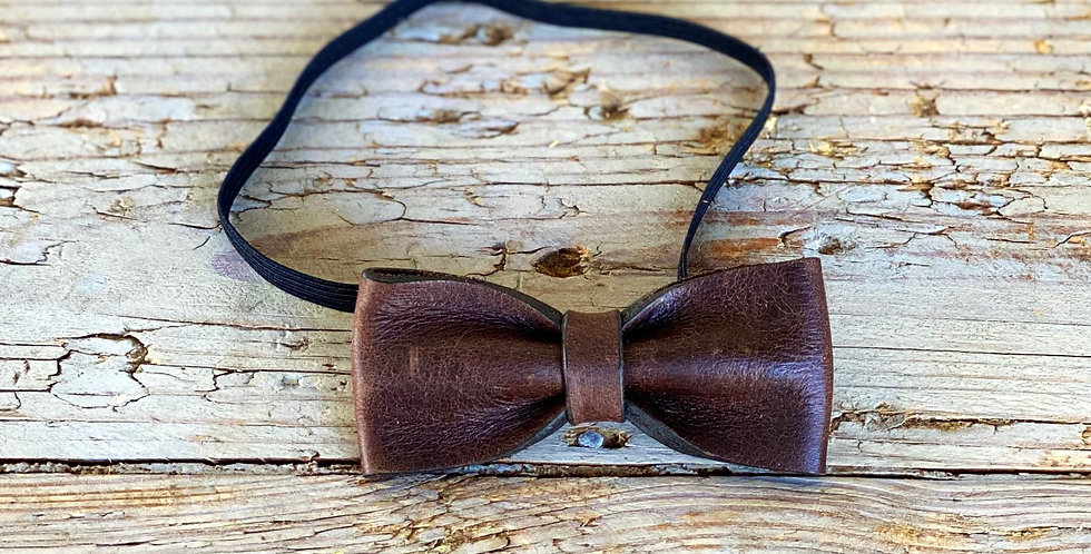 Baby Leather Bow Tie