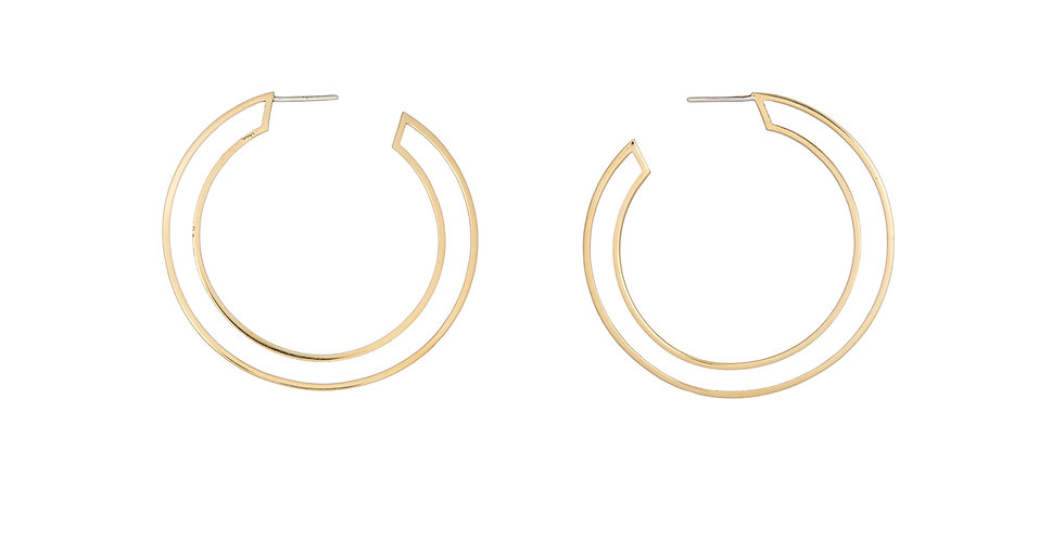 Circle Frame Gold Hoops