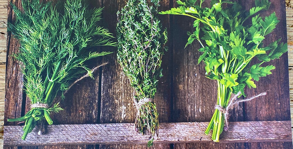 Disposable Place Mats - Herbs