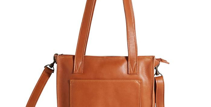 Antelo Ava Crossbody Leather Tote - Cider