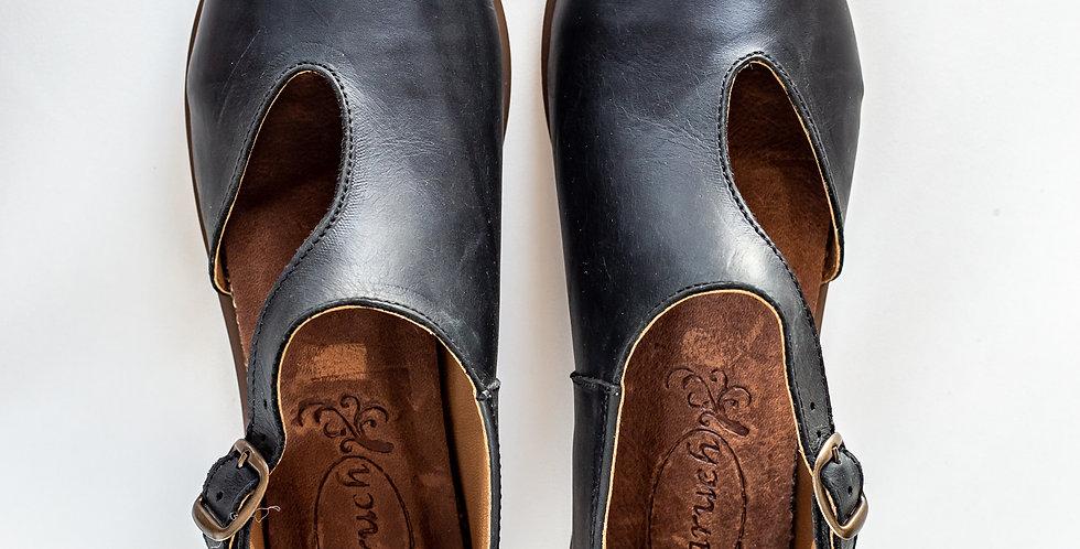 Michelle Leather Shoes - Black