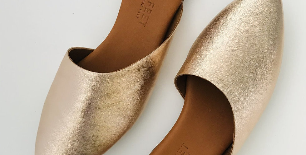 Tapered Mule - Rose Gold